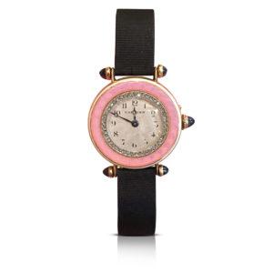 Cartier Belle Epoche Enamel Wrist Watch