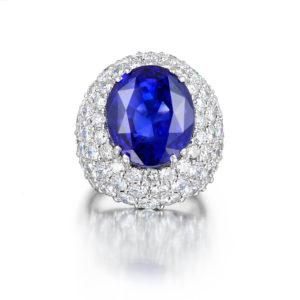 Stunning 14.45ct Natural Ceylon Sapphire Ring