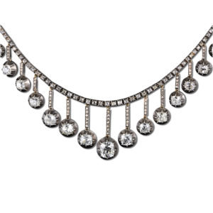 Victorian Silver, Gold, and Diamond Necklace