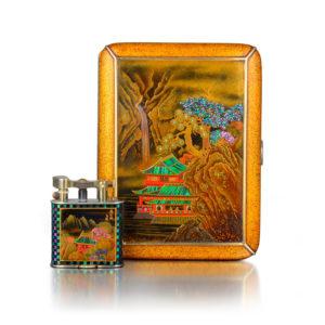 Dunhill Art Deco Cigarette Box and Lighter